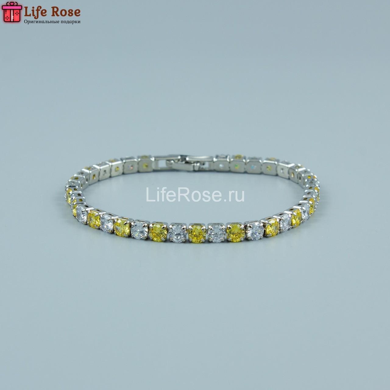 Свадебный браслет с цирконием